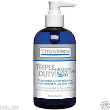 8oz TitanMen Triple Lubricant Masturbation Hand Job Fist Cream Couples Sex Lube