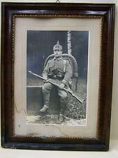 Bonito antiguo Madera Marco de fotos KS Infantería Regimiento 177,Kamenz,Sajonia
