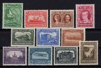 P131829/ NEWFOUNDLAND / CANADIAN PROV / SG # 198 / 208 MNH & MH COMPL.  CV 335 $
