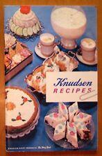 Vintage KNUDSEN FOODS Recipes Booklet Cook Book Cooking Cookbook 1962 Dairy Milk