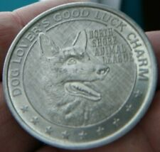CAT & DOG MEDAL/TOKEN NORTH SHORE ANIMAL LEAGUE LOVER'S GOOD LUCK CHARM #1628