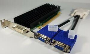 Dual Monitor VGA Nvidia Quadro NVS 290 Low Pro Windows 10 Silent Video Card