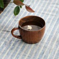 Holzbecher Kaffeetasse Teetassen mit Griff für Trinkwasser,Tee,Kaffee,Wein