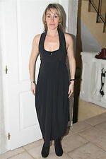 luxe vestito sexy aperta nero dorso stretch nu ALTO USE taglia 38 ETICHETTA