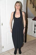 luxe robe sexy fendue noire dos nu stretch HIGH USE taille 38  NEUVE ÉTIQUETTE