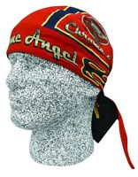 Red Blue Chrome Angel Doo Rag Headwrap Skull Cap Biker Durag Sweatband Capsmith
