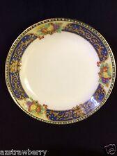 J Pouyat JP LIMOGES  France W lot of 4 berry bowl china cobalt blue gold scroll