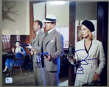 WARREN BEATTY FAYE DUNAWAY Dual Signed BONNIE & CLYDE 8x10 Color Photo Rare GAI