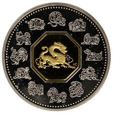CANADA 15 DOLLARS 2000 CHINESE ASTROLOGY : THE DRAGON ARG./SILVER PROOF #4332A