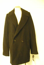 Steve by Searle Cobalt Black Boyfriend Coat Jacket Casual Wool New Italy NWT 8