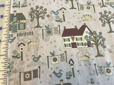 Quilters Garden Country cotton Fabric per yd  sewing quilting dusty lavender