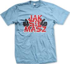 Jak Sie Masz Poland How Are You Polish White Eagle Symbol POL From Men's T-Shirt