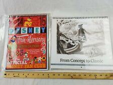 Disney D23 2014- 2015 & 2012-2013 Fan-Niversary Gold Member Calendars New