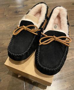 NEW UGG Women's Dakota Moccasin Slippers Black Size 5 6 7 11 FREE Shipping