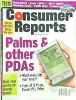 Vintage Consumer Reports magazine May, 2001- cars, auto, palm pilots, back issue