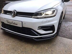 VW GOLF VII MK7.5 GOLF R GTI Facelift FRONT SPLITTER SPOILER LIP BLACK 2017-UP