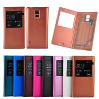 Housse Etui Coque Pour Galaxy S5 i9600 View Flip Leather Case Cover + Film