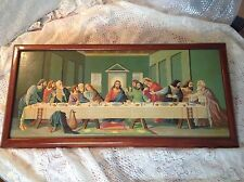 "Vintage ""Last Supper"" 14 X 32"" Framed Paint By Number"