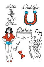 Amy Winehouse Theme Tattoos.Temp, Stick on,Fancy Dress Accessory,Washes Off #IE