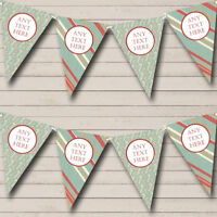 Stripy Candy Canes Personalised Christmas Decoration Bunting Party Banner
