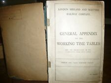 LMS General Appendix to the Working Time Tables. 1937