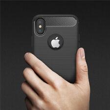Silikonhülle für iPhone X XS Silicon Case Silikon Cover Schwarz Carbon Karbon 10