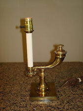 "Vtg. Stiffel Brass POWDER HORN 14"" Desk / Table Lamp- Excellent Cond."