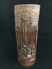 Porte Pinceau en Bambou Sculpté Chinois Chine Pot Ancien China Antique Chinesse
