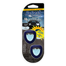 Refresh Vent Clip Mini Diffusers Car Air Freshener, Midnight Black/Ice Storm