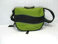 LL Bean Messenger Bag with Padded Strap Green Laptop Travel Shoulder