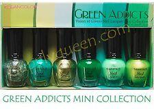 Kleancolor Green Addicts Nail Lasquer mini Collection  6pcs set