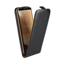 Genuine Leather Magnetic Flip Case Cover For Samsung Galaxy S8 S8 Plus