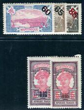 Martinique 1922 YVERT 87-91 ** tamponné (f4915