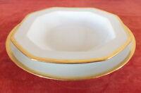 conjunto plato plato + creuse porcelana Limoges Seignolles De Jackson