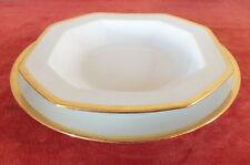 ensemble assiette plate + creuse porcelaine Limoges Jammet Seignolles