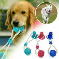 Pet Dog Puppy Molar Bite Chew Toy Tug Rope Ball Toys Tooth Cleaning Suction Cup