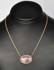 Marco Bicego Pink Pendant Necklace 18K Yellow Gold Siviglia New $2250 Sale