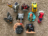 Lot Of 9 - Transformers Robot Heroes Mixed Characters Variety