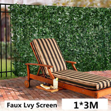 1*3M Expanding Artificial Fake Lvy Leaf Wall Fence Green Garden Screen Hedge