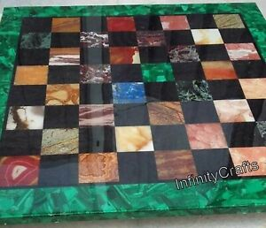 36 x 36 Inches Marble Coffee Cum Chess Table Top Marble Game Table Inlay Work