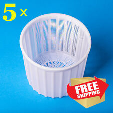 Deluxe Soft Hard Cheese Making Mould Set of 5 | Large basket for cheese (5 pcs)
