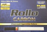 NEW 500 CARBON ULTRA SLIM 6.5 ROLLO TUBES TOBBACCO CIGARRETTE FILTER TIP