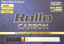 NEW BULK WHOLESALE 10,000 CARBON ULTRA SLIM 6.5 ROLLO TUBES TOBBACCO CIGARRETTE