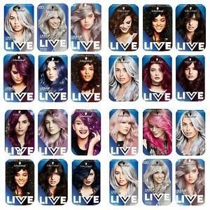 Schwarzkopf Live Intense Colour Permanent,Semi Permanent Hair Dye-VariousColours
