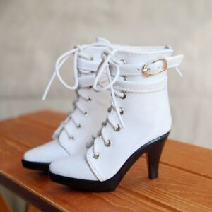 "BJD White Boots High heel Shoes For 1/3 24"" 60cm BJD doll AOD  SD DOD DK DZ"