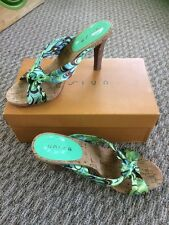 Women's Unisa Blue Green And Brown Sandal High Heels DSW 8 M