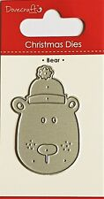 DOVECRAFT SMALL STEEL CUTTING DIE - CHRISTMAS THEME - DCDIE110X17 - BEAR