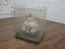 VINTAGE DRESDEN PORCELAIN AND LACE FIGURE UNOPENED figurine doll