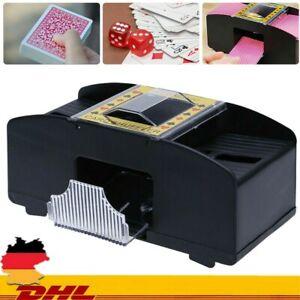 2 Decks Elektrisch Kartenmischgerät Automatische Poker Kartenmischmaschine DHL
