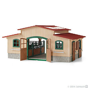 NEW IN BOX SCHLEICH 42110 - Horse Stable Play Set Playset Farm Life